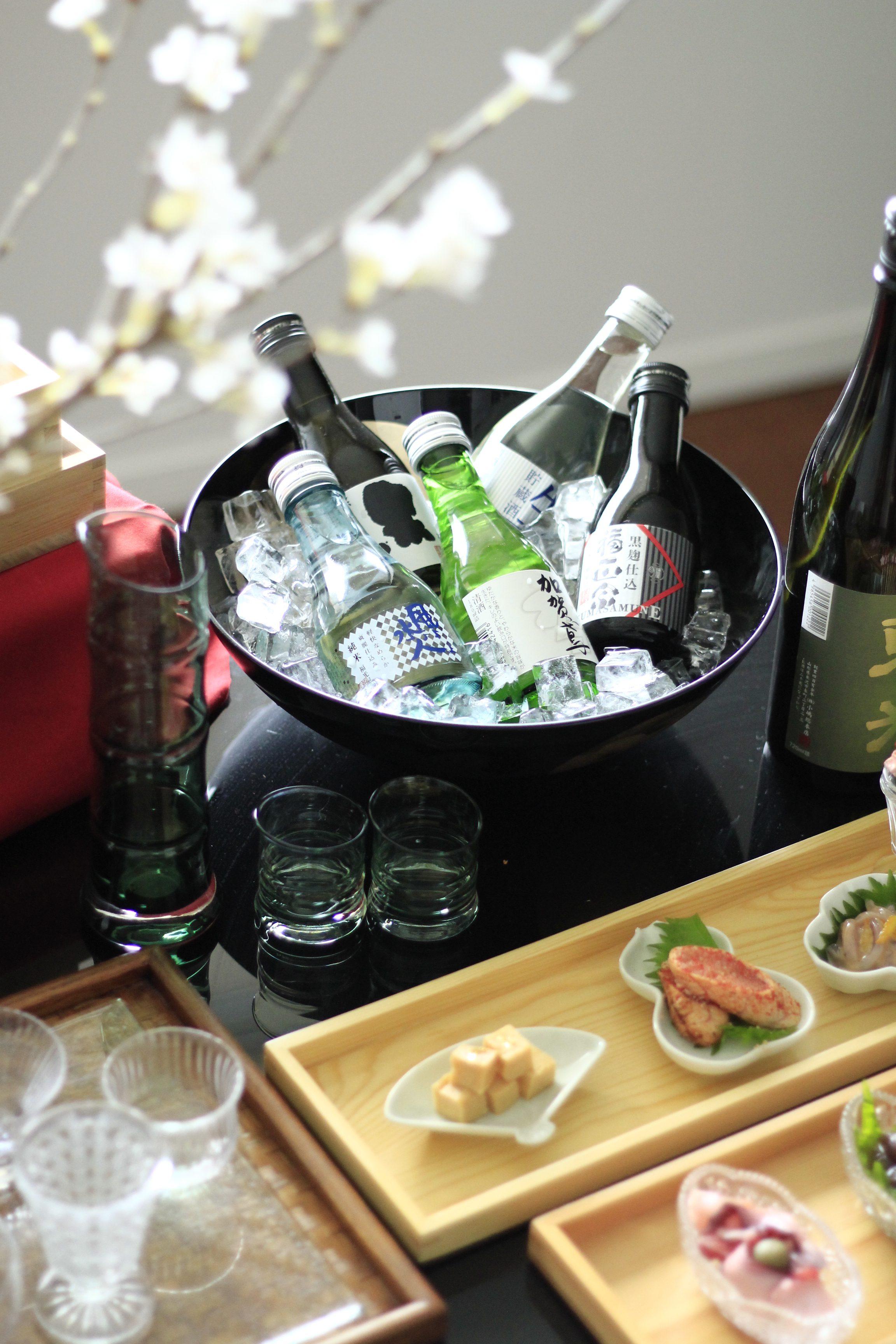 お部屋でお花見日本酒飲み比べパーティー