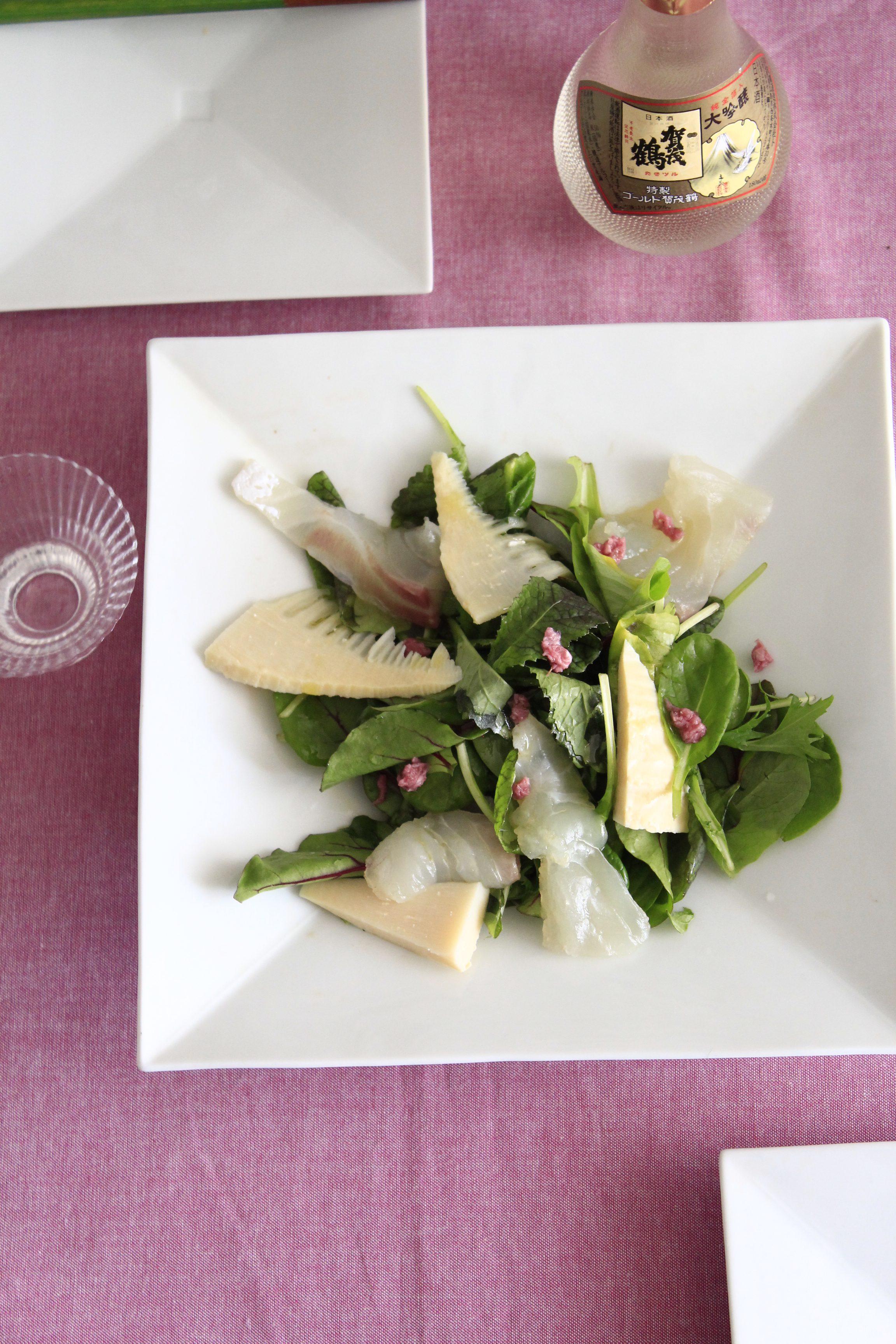 のせるだけの桜香る鯛のカルパッチョサラダ②