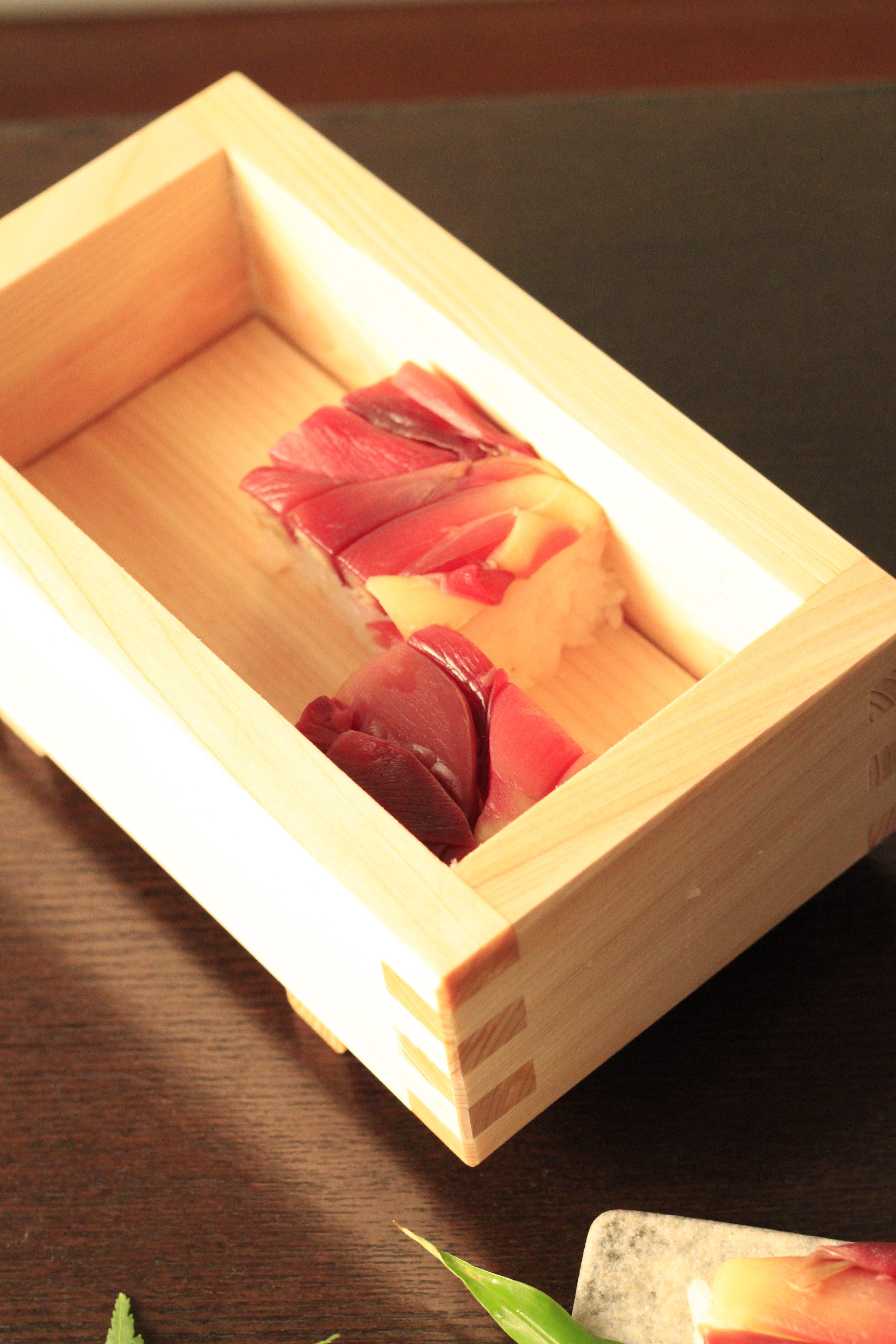 ミョウガの押し寿司④