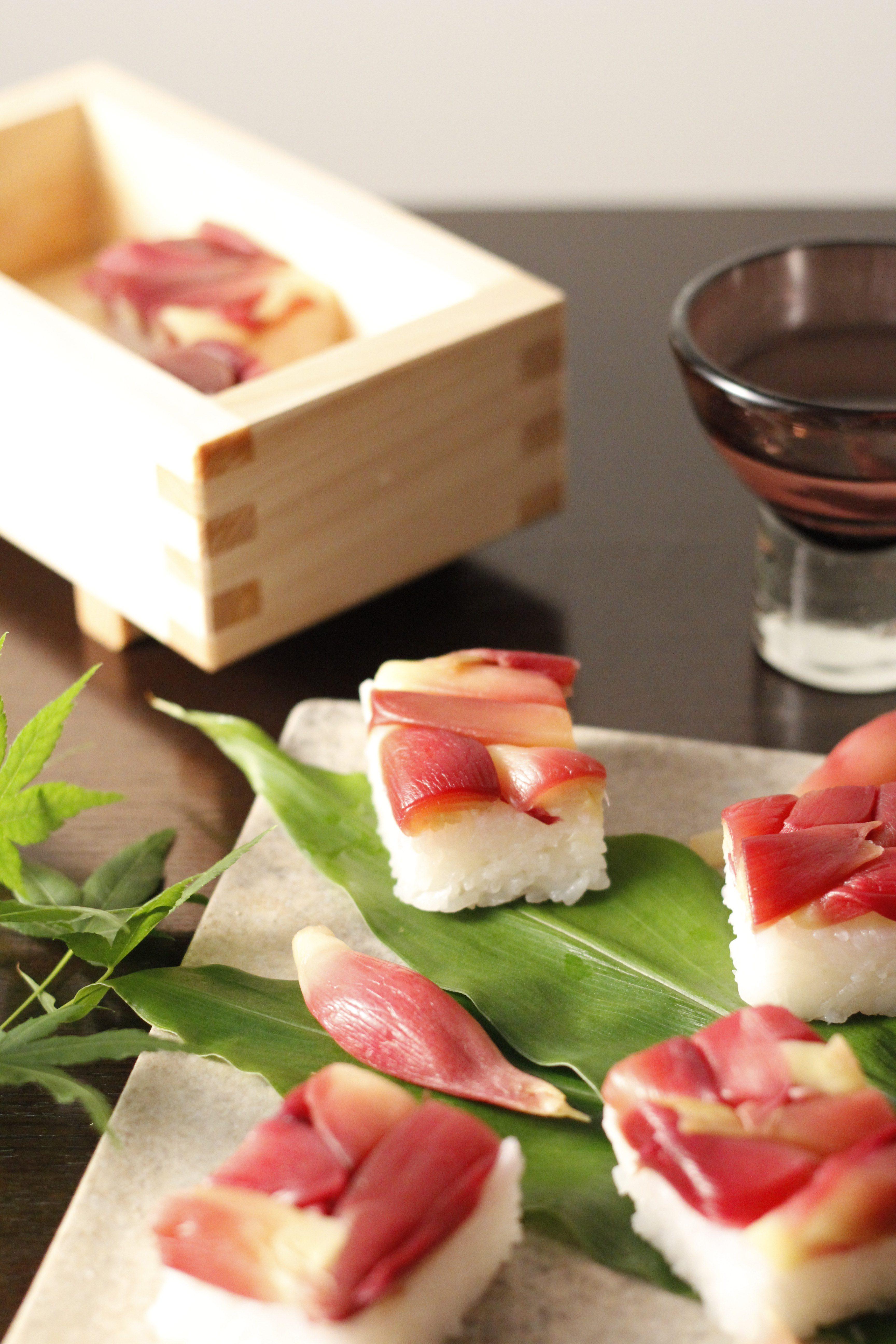 ミョウガの押し寿司③